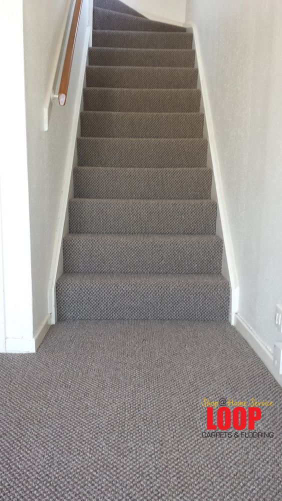 Carpets stairs and grey on pinterest for Best wearing carpet for high traffic areas