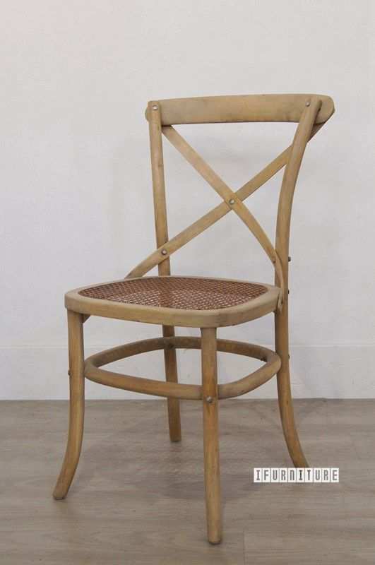 East Hampton Style Cross Back Chair Solid Oak Dining Room Nz S
