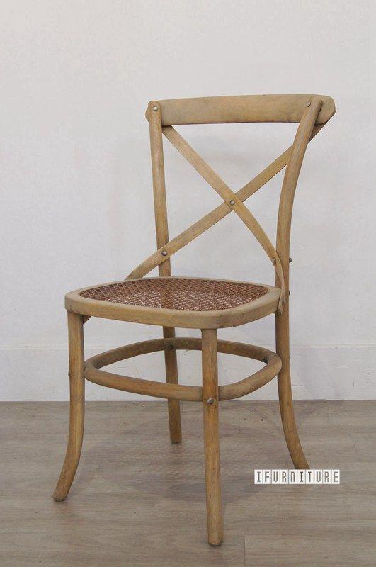 East Hampton Style Cross Back Chair Solid Oak Dining Room Nz S