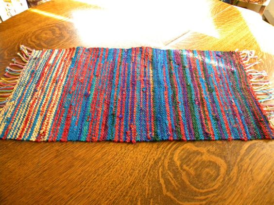 Handwoven Recycled Sari Silk Table Runner