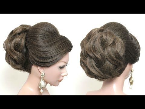 New Beautiful Hairstyle For Wedding Party Function Latest Bridal Updo Youtube Ponytail Hairstyles Tutorial Easy Updo Hairstyles Long Hair Styles