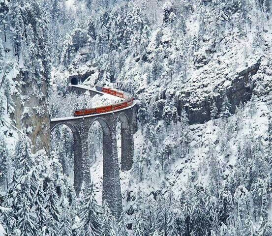 Amazing Railway in Switzerland