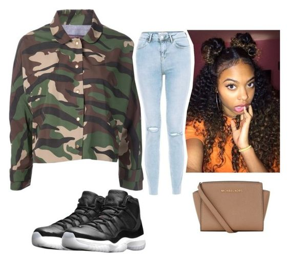 """""""Bored"""" by girl-outfits ❤ liked on Polyvore featuring NIKE, Harvey Faircloth and MICHAEL Michael Kors"""