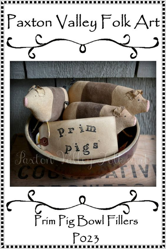 Bowl fillers, Pigs and Primitives on Pinterest