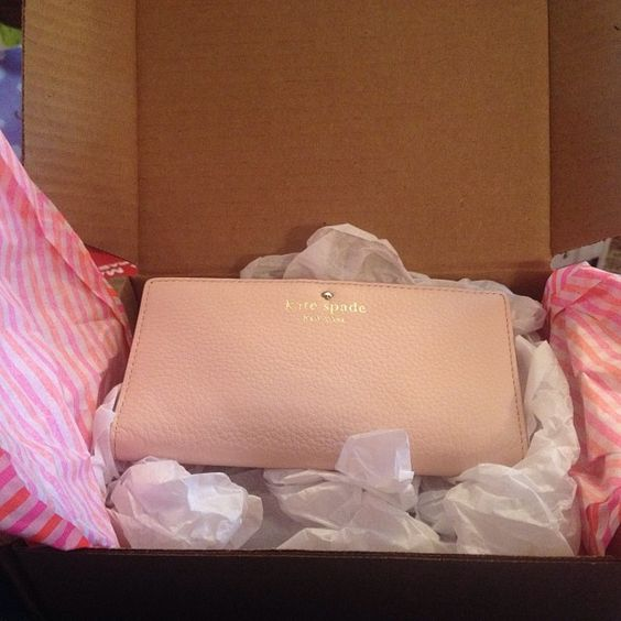 kate spade cobble hill stacey wallet in pink @Mary Secondo