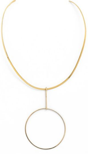 Argento Vivo circle collar necklace