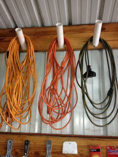 shed organization electrical cords More