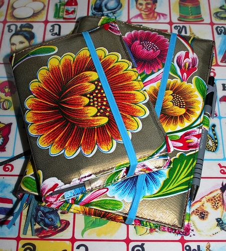 Oil cloth notebook cover