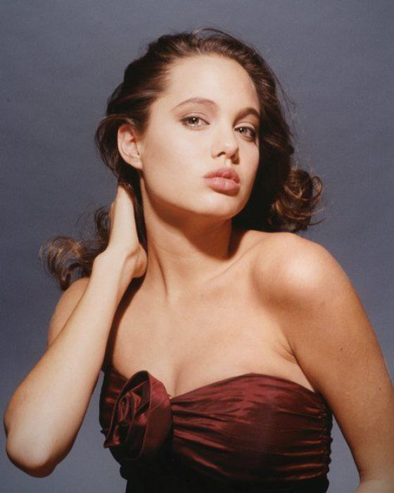 Angela Jolie without all the eye makeup