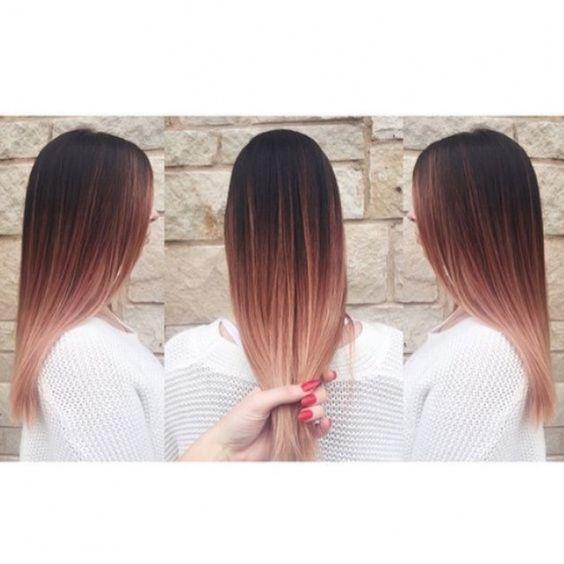 Ombr hair sur base brune la couleur qui cartonne en 2016 54 photos coiffures cheveux et - Couleur ombre hair ...