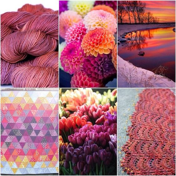 Sunset mood board. Hmmm... I wish I lived in this magical sunset land.