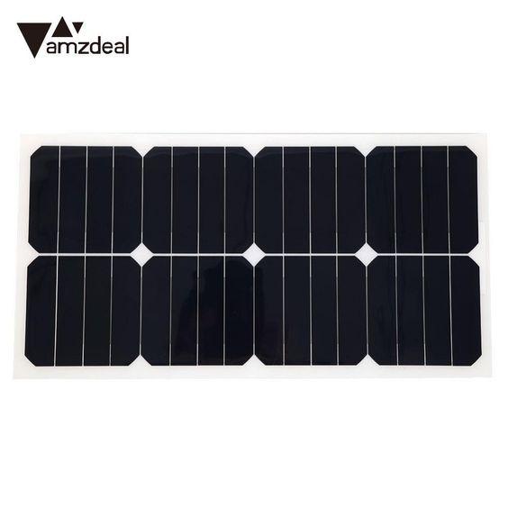 Amzdeal 18v 25w Flexible Solar Power Panel Boat Car Vehicle Auto Solar Energy Battery Panel For Outdoor Activity Convenience Review Solar Power Panels Solar Energy