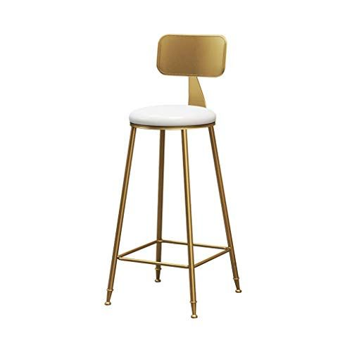 Qendsx Dining Chair Barstools Bar Chair Kitchen Stool Coffee Restaurant Iron High Chair Backrest Design Gold Leg Iron Bar Stools Bar Stools Kitchen Bar Stools