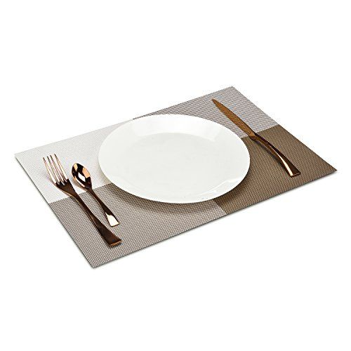 Placemats Ttoyouu Heatresistant Placemats For For Dinner Partiessummer Outdoor Picnics Set Of 6 6 Dark Green Whi Outdoor Picnics Dinner Party Summer Placemats