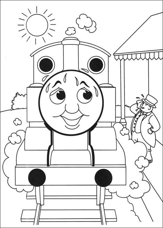 thomas and friends coloring picture toddlericious pinterest homemade greeting cards adult coloring and free printables - Thomas The Train Coloring Book