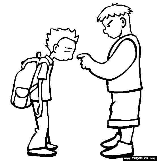رسومات للتلوين عن التنمر أفكار عن التنمر بالقلم الرصاص بالعربي نتعلم School Coloring Pages Bullying Online Bullying