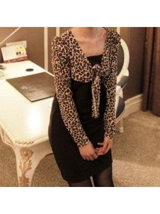 Leopard Cover Up Bodycon Dress
