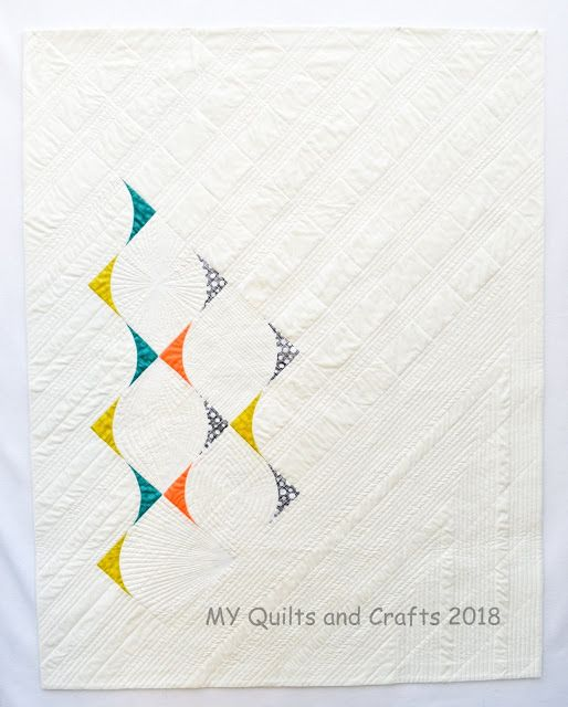My Curved Triangles #2 got accepted into 2019 QuiltCon Nashville. #QuiltCon2019