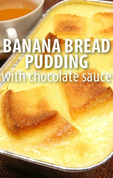 Banana bread puddings, Bread pudding recipes and Michael symon on ...