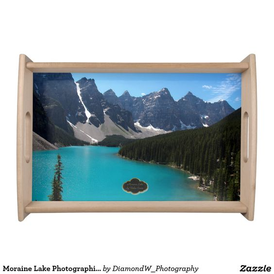 Moraine Lake Photographic Serving Tray