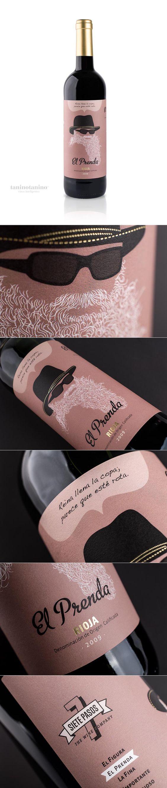 EL PRENDA SIETE PASOS  wine / vinho / vino mxm #packaging  #wine #illustration