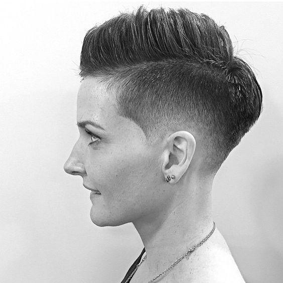 Girl fades haircut