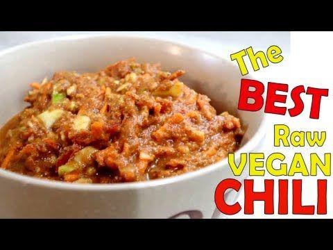 The Best Raw Vegan Chili Recipe Youtube Vegan Chili Recipe Easy Stovetop Chili Recipe Raw Vegan Recipes