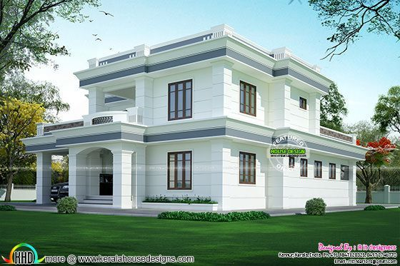 Modern Flat Roof House In 395 Sq Yd Flat Roof House House Roof
