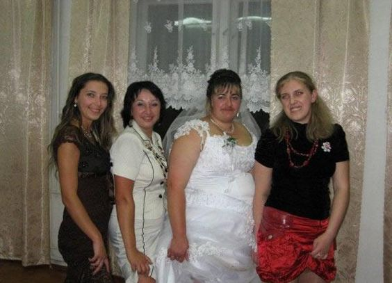 Easiest/ Least Appealing Wedding To Get Laid At In This Picture: Photo of woman with mustache