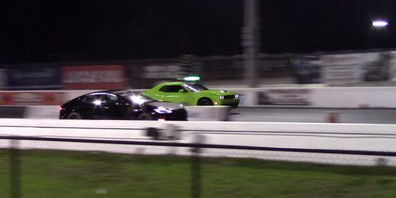Gasoline Reigns Supreme in Hellcat vs. Tesla Rematch  - PopularMechanics.com