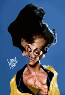 SYLVESTER STALLONE AS ROCKY (COLOR USING MOUSE ONLY) by elmagodellapiz