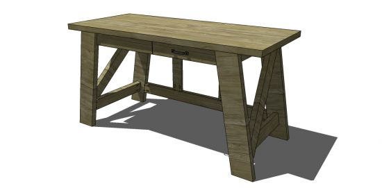 Free DIY Furniture Plans from The Design Confidential (thedesignconfidential.com)- The Small Hendrix Desk