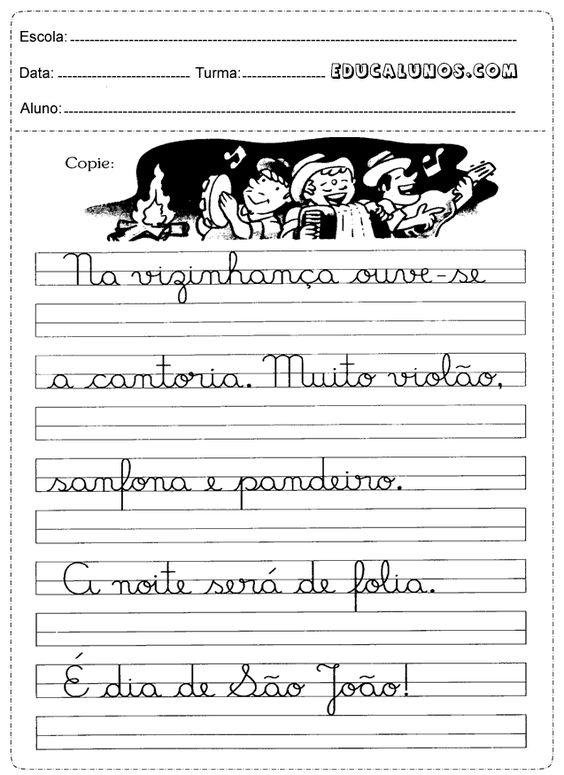 Frases Para Caligrafia 2 Ano