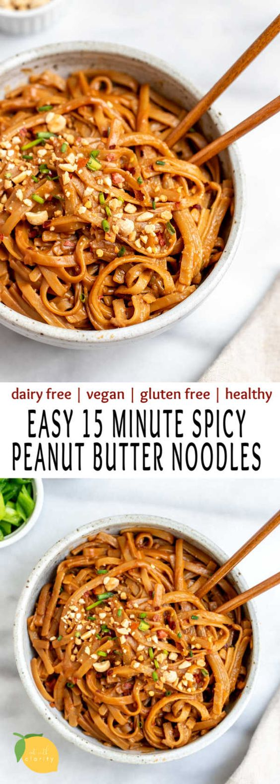 15 Minute Spicy Peanut Noodles