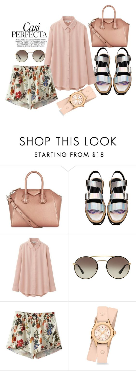 """""""Two For Tea."""" by toxipollen ❤ liked on Polyvore featuring Whiteley, Givenchy, Uniqlo, Prada, Chicnova Fashion and Michele"""