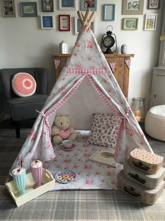 Cath Kidston Handmade Teepee Wigwam Washed Rose And Laura Ashley Gingham