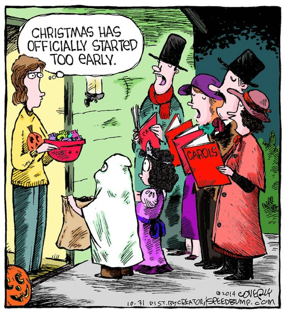 I want to do this next Halloween...dress as Christmas Carolers with friends :)