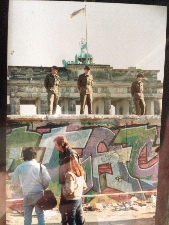 The week the Berlin Wall came down - at the Brandenburg Gate - (photo by @clarriety)