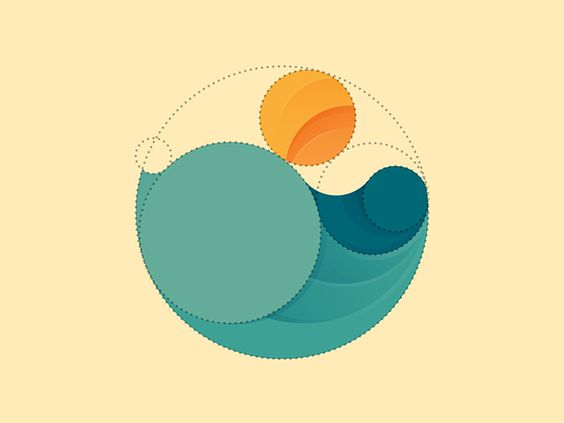 Dribbble - Simple Sunrise by Yoga Perdana: