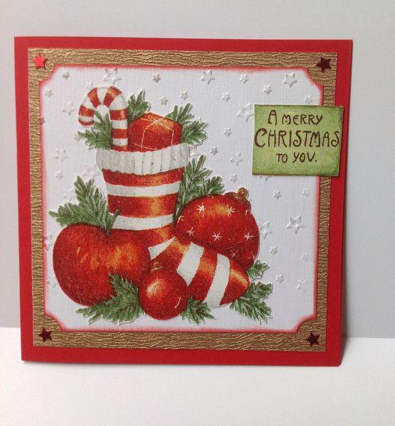 Weihnachtskarte mit Serviette