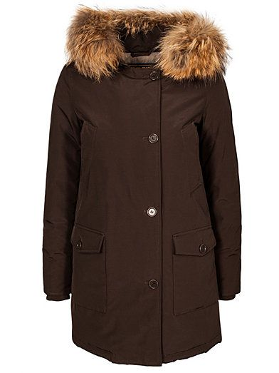 W's Artic Parca Df - Woolrich - Brown - Jackets And Coats - Clothing - Women - Nelly.com