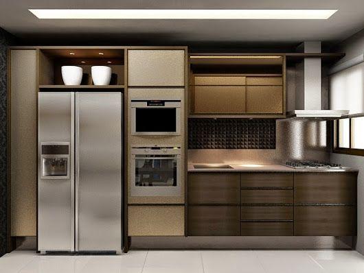 Cozinha Em Mdf Bronze Guararapes Portas Com Vidro Argentato