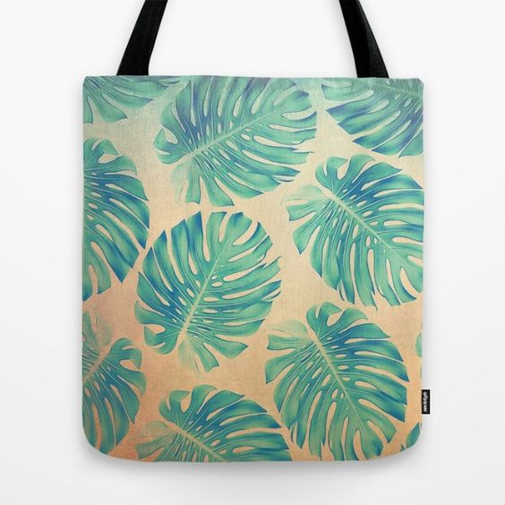 Tropical abstract(2). Tote Bag
