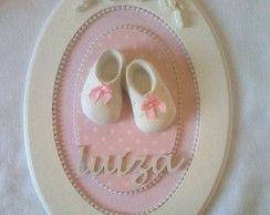 Quadro Oval Porta Maternidade c/placa