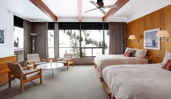 Corner room at Alta Lodge