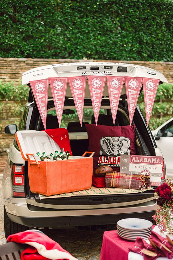 Fall is  here, and you know what that means... Football season! Host a fun, festive Football Tailgate for your friends.