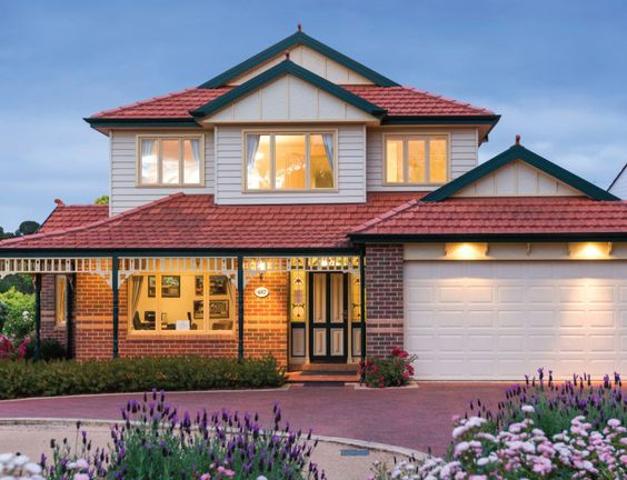 Federation style double storey by Highvale homes