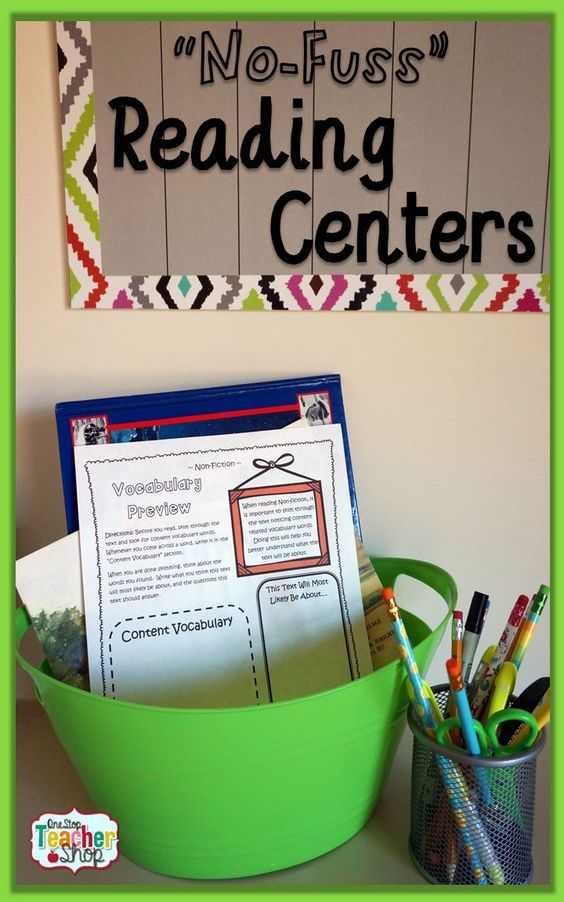 Reading Center activities that are low-maintenance, and can be paired with almost any text. Read more here...