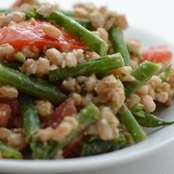 Farro Salad with Asparagus and Parmesan Recipe- cherry tomatoes ...