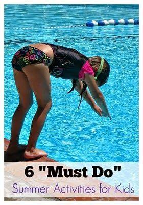 Must Do Summer Activities for Kids